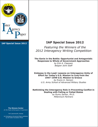 IAP Special Edition 2012 cover image
