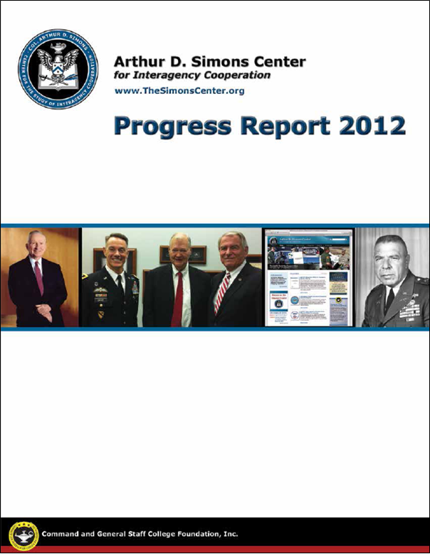Cover of 2012 Progress Report