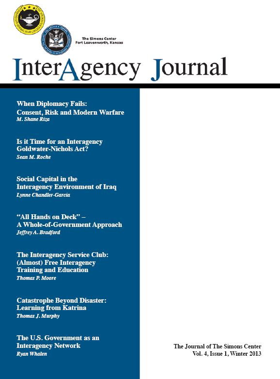 InterAgency Journal 4-1 (Winter 2013)