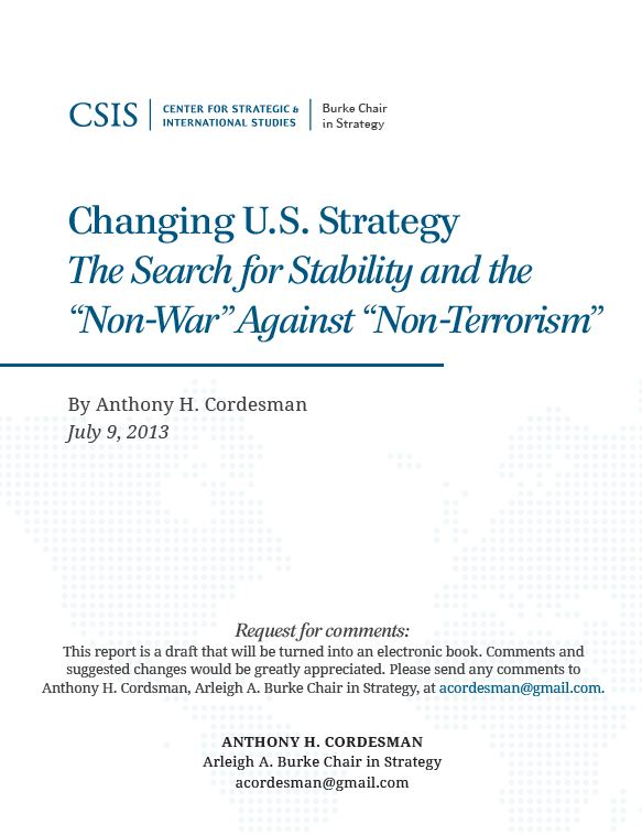 Changing U.S. Strategy