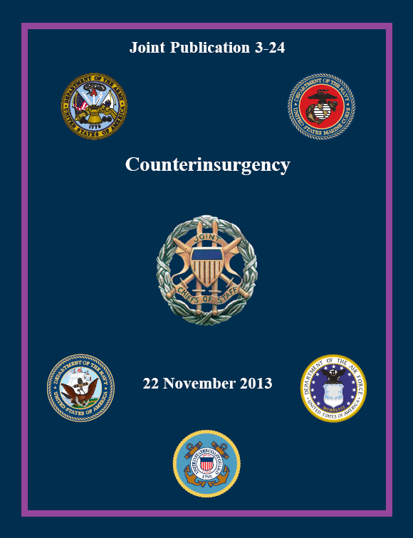 Joint publication on counterinsurgency updated