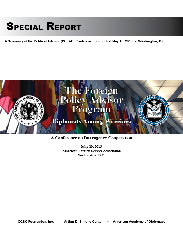 Special Report: The Foreign Policy Advisor Program