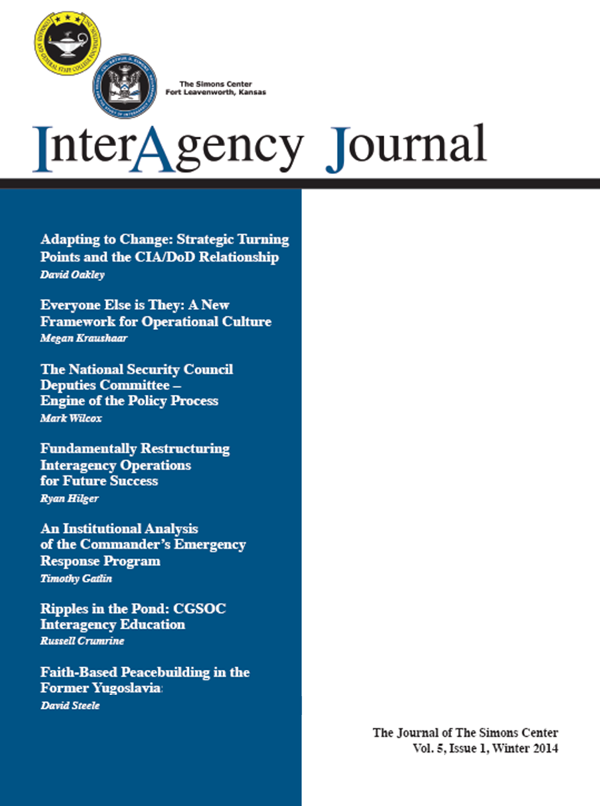 InterAgency Journal 5-1 (Winter 2014)