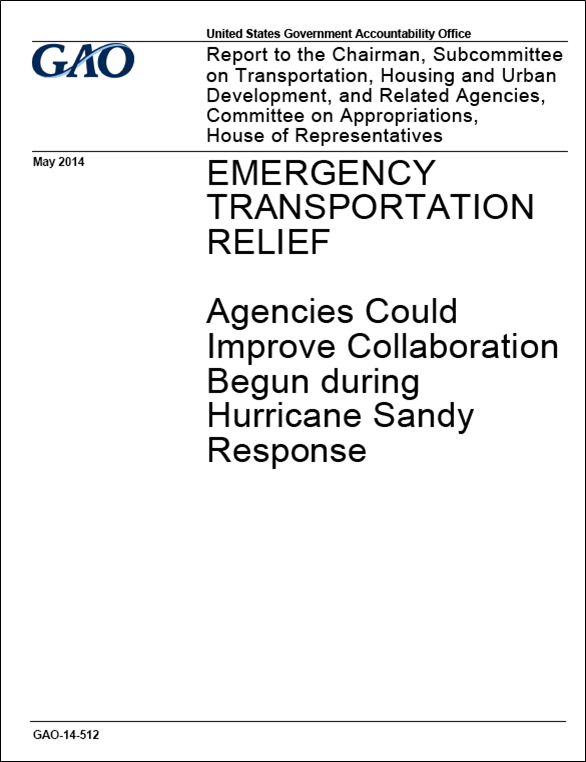Report recommends improved transportation collaboration in disaster response