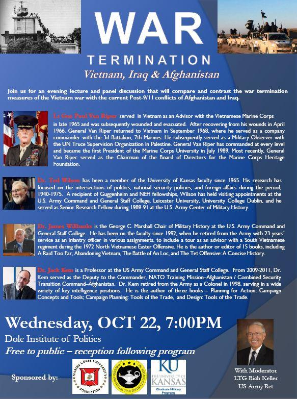 War Termination – Vietnam, Iraq & Afghanistan