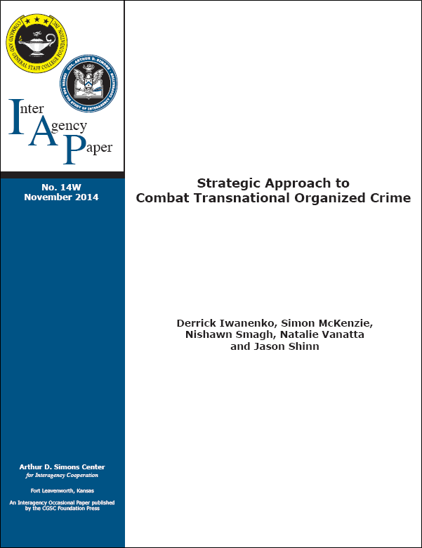 IAP 14W (November 2014) Strategic Approach to Combat Transnational Organized Crime
