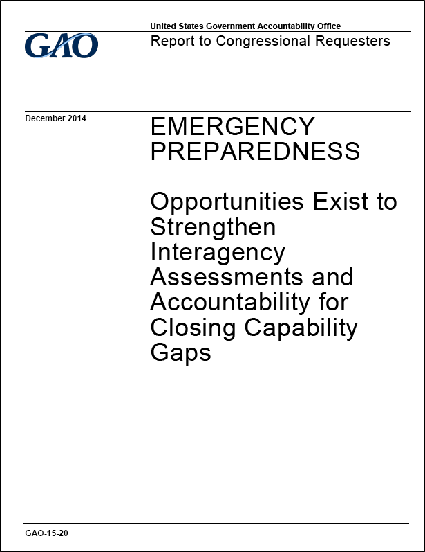 GAO recommends greater collaboration in emergencies