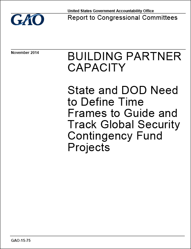 GAO reports on DoD/State projects
