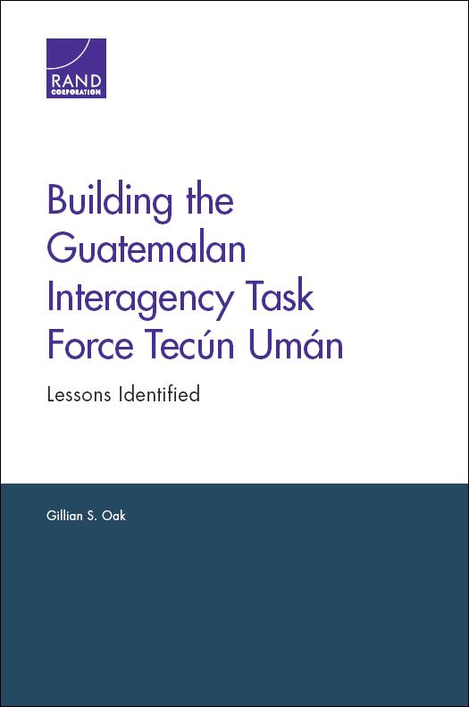 Report outlines lessons learned establishing interagency task force