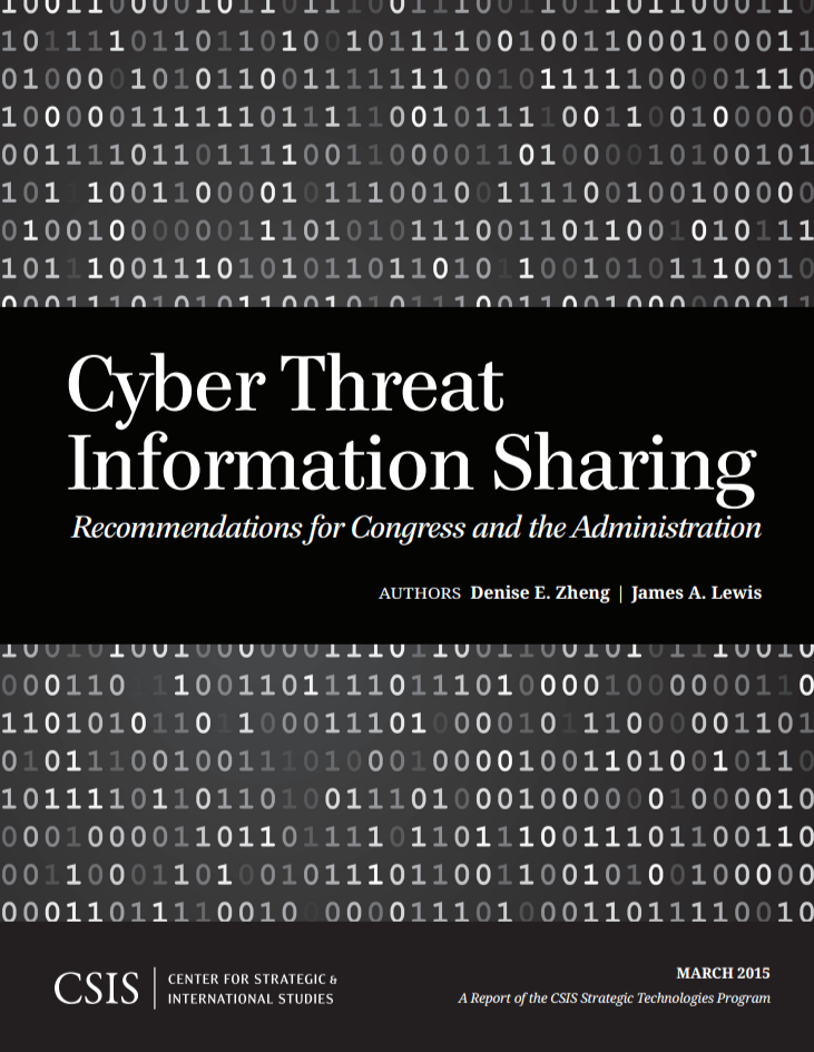 CSIS report provides recommendations on cyber threat information sharing