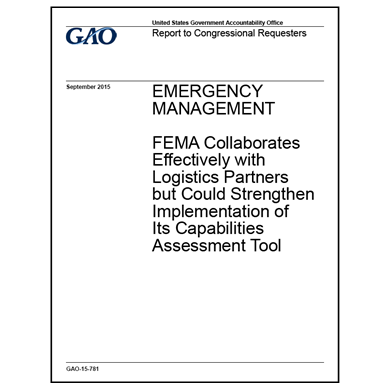 FEMA collaboration reviewed by GAO