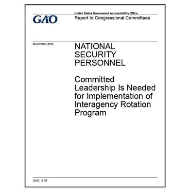 Leadership needed for Interagency Rotation Program