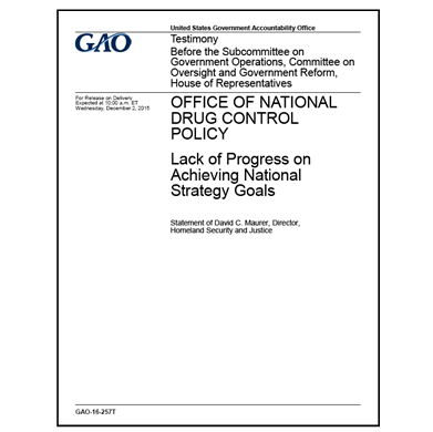 GAO follows up on National Drug Control Strategy