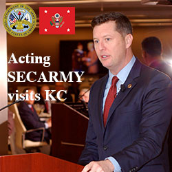 Acting Secretary of the Army visits KC