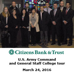 CGSC 'Walk and Talk' – Citizens Bank & Trust