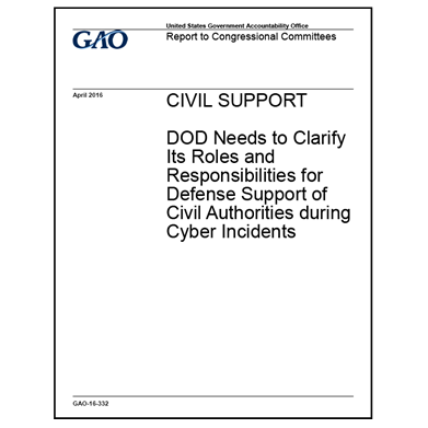 GAO: DoD should clarify its role during cyber incidents