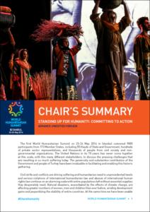 World Humanitarian Summit 2016