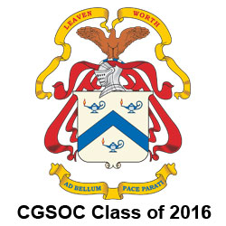 CGSOC Class of 2016 badge and graduation ceremonies