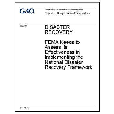 Assessment needed for National Disaster Recovery Framework