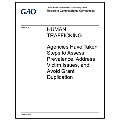 GAO reports on human trafficking