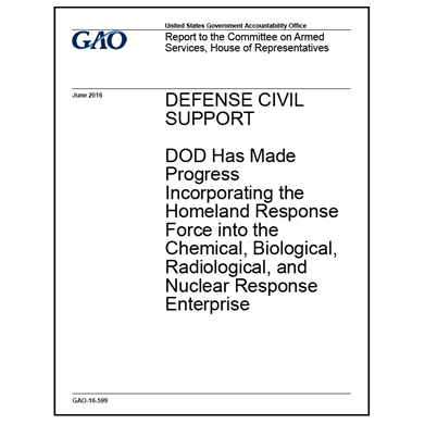 GAO reports on progress in CBRN response