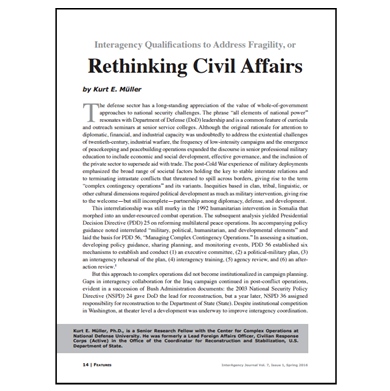 Featured Article: Rethinking Civil Affairs