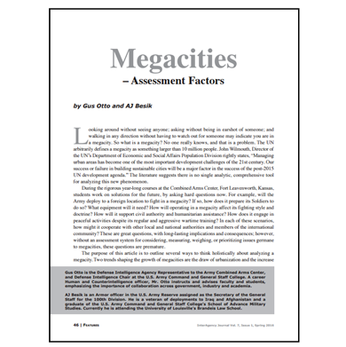 Featured Article: Megacities – Assessment Factors