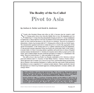 Featured Article: The Reality of the So-Called U.S. Pivot to Asia