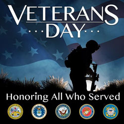 Veterans Day 2016 – A Thank You Message