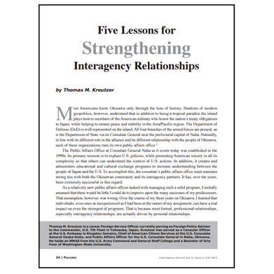 Featured Article: Five Lessons for Strengthening Interagency Relationships