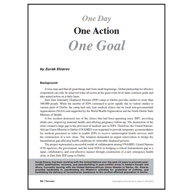 Featured Article: One Day One Action One Goal