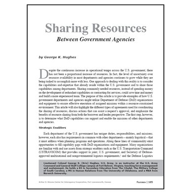 Featured Article: Sharing Resources Between Government Agencies
