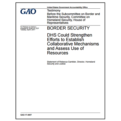 GAO assesses DHS border security