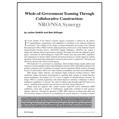 Featured Article: NRO/NSA Synergy