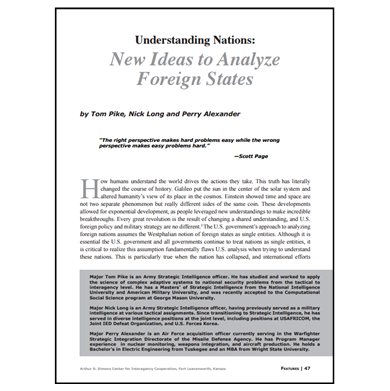 Featured Article: Understanding Nations…
