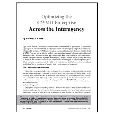 Featured Article: Optimizing the CWMD Enterprise Across the Interagency