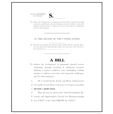 Safe DRONE Act introduced