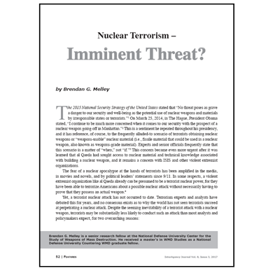 Featured Article: Nuclear Terrorism…