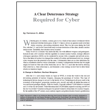 Featured Article: A Clear Deterrence Strategy Required for Cyber