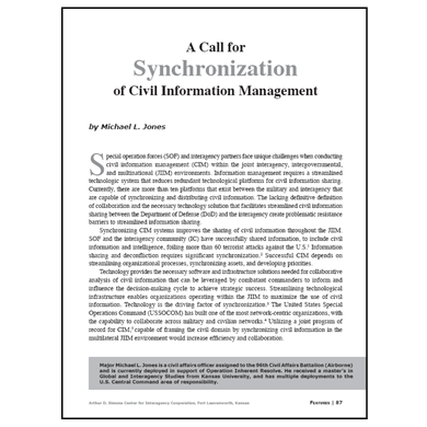 Featured Article: …Synchronization of Civil Information Management