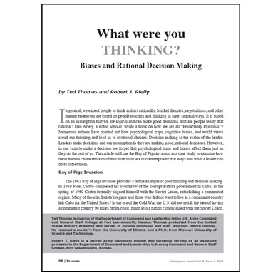 Featured Article: What Were You Thinking?
