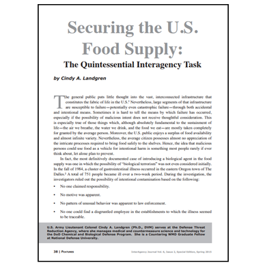 Featured Article: Securing the U.S. Food Supply…
