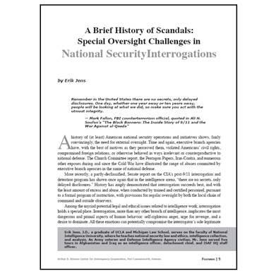 Featured Article: A Brief History of Scandals…