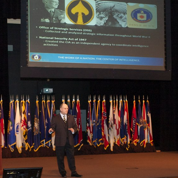 Rousseau briefs on CIA at InterAgency Brown-Bag Lecture