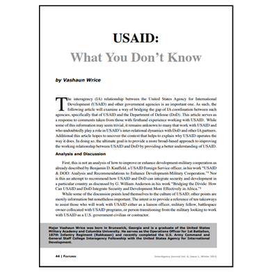 Featured Article: USAID: What You Don't Know