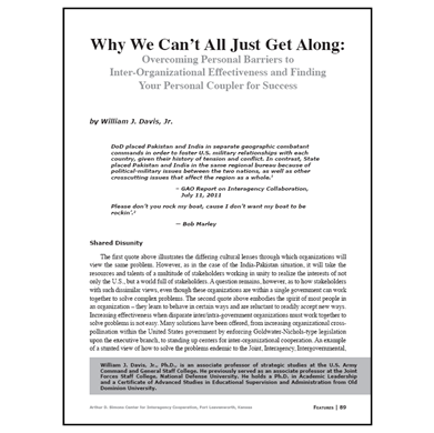 Featured Article: Why We Can't All Just Get Along…