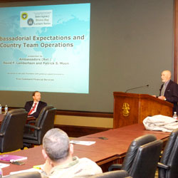 Ambassadors discuss country teams in InterAgency Brown-Bag Lecture