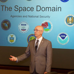 Space domain topic of InterAgency Brown-Bag Lecture