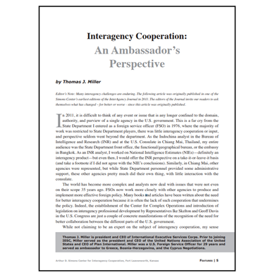 Featured Article: An Ambassador's Perspective
