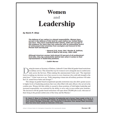 Featured Article: Women and Leadership